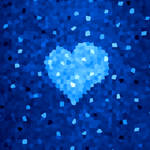 Winter Blue Crystal Heart by azzza