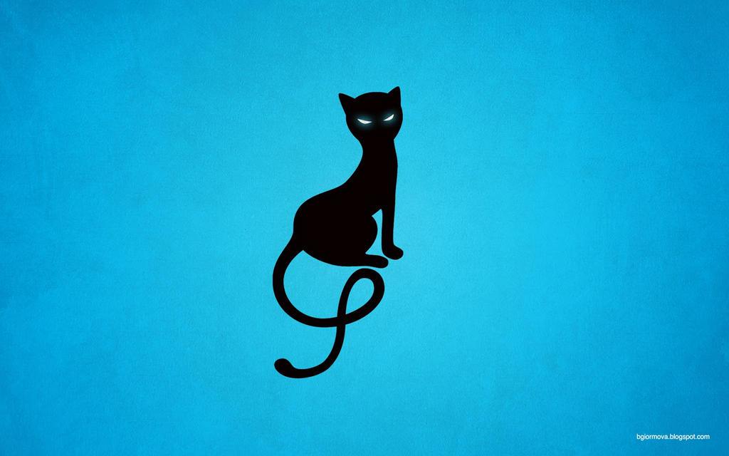 blue gracious evil black cat desktop wallpaper by azzza db036r0