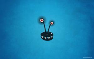 Funny crazy alien desktop wallpaper by azzza