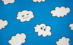 Funny Cartoon Clouds Desktop Wallpaper by azzza