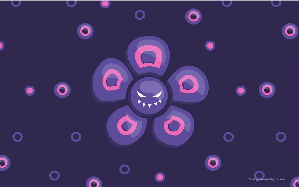 Purple Evil Flower Desktop Wallpaper By Azzza