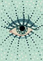 Beautiful dotted blue eye