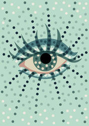 Beautiful dotted blue eye  by azzza