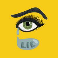 Lying eye with tears by azzza