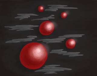 Shiny red planets by azzza