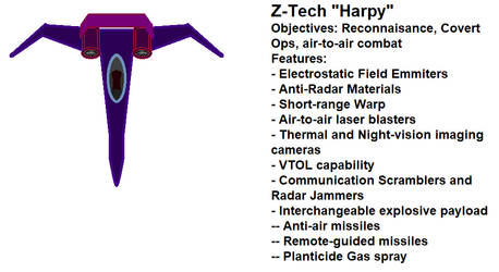 Z-Tech Harpy Stealth Fighter