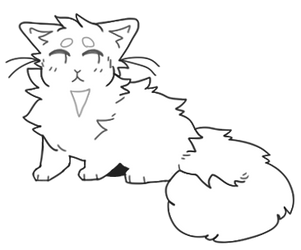 kitty cute lineart
