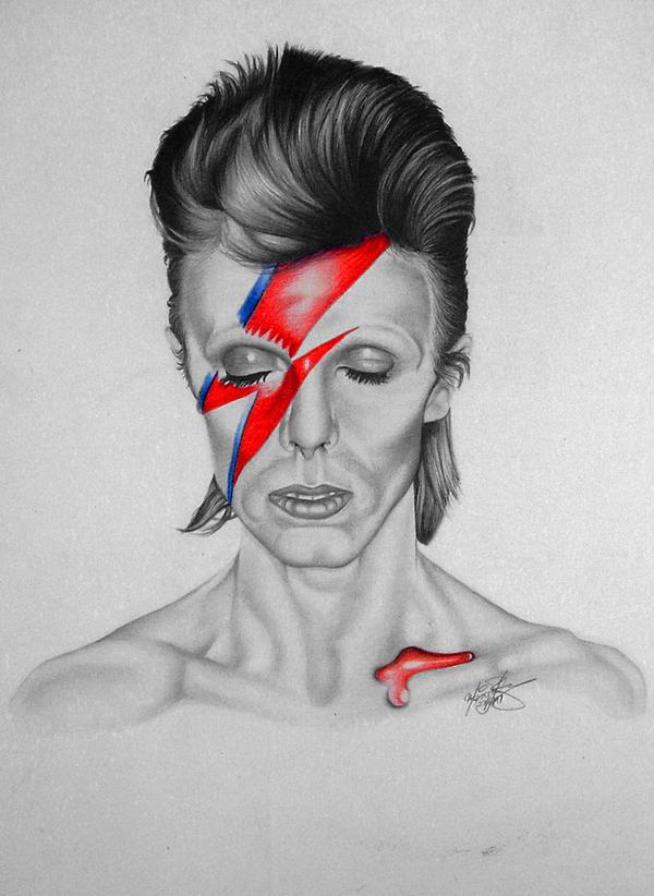 David Bowie Aladdin Sane by monstarart