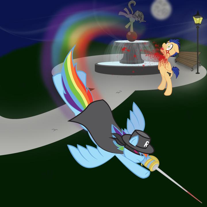 Flutterdon's Rainbow Bandito by xMynxi