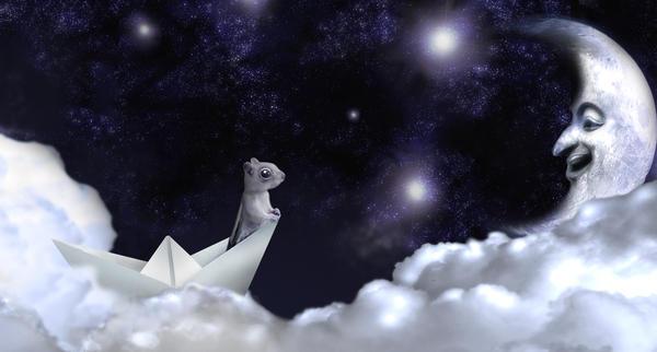 Hello Mr. Moon by FieryRed