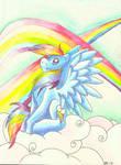 watercolor fabulous rainbow dash
