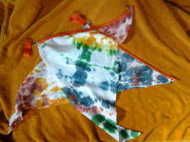 Rainbow Tie dye Flag Poi
