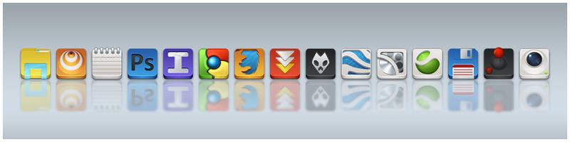 App Icons WIP by arrioch