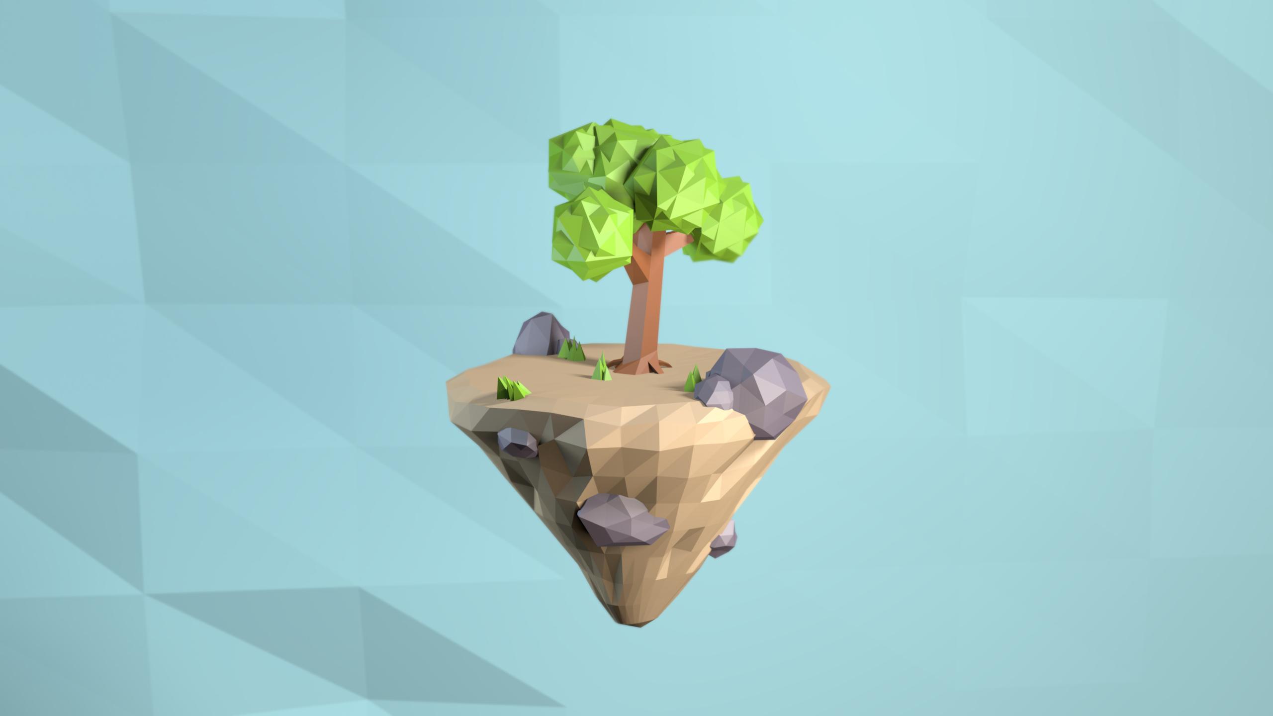 Low poly island by arrioch