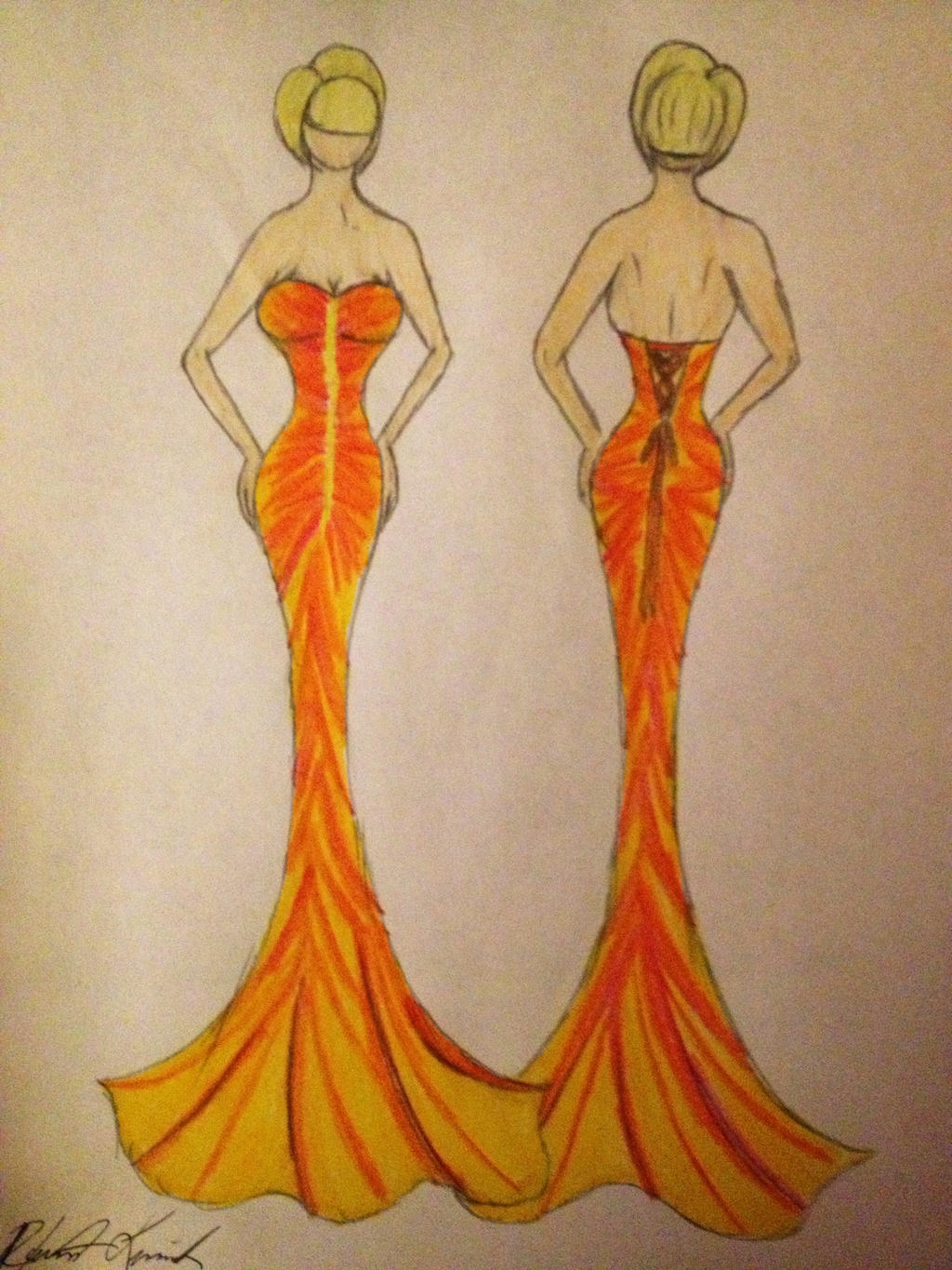 Sunset Mermaid Dress by SarcasticBoy95