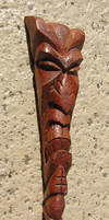 Mahogany Tiki Pendant by tflounder