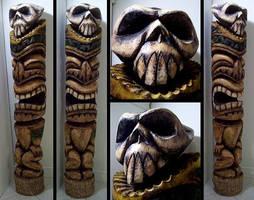 6' Skull Tiki by tflounder