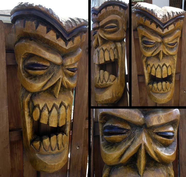 Pinstriping Designs Tiki Skull final by tf...