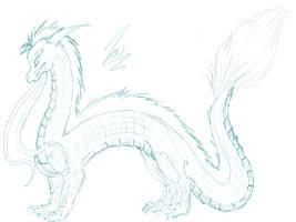 Dragon Sketch by TairoruXRyuu