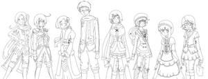 Family Portrait :: Lineart by TairoruXRyuu
