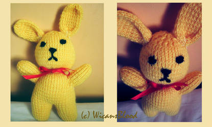 Knitted bunny by WicansBlood