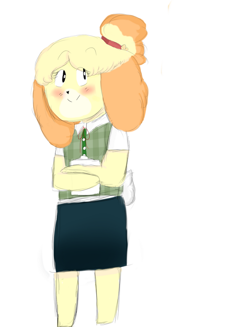 Isabelle (Animal Crossing New Leaf) by Crummy-Juncture on ...