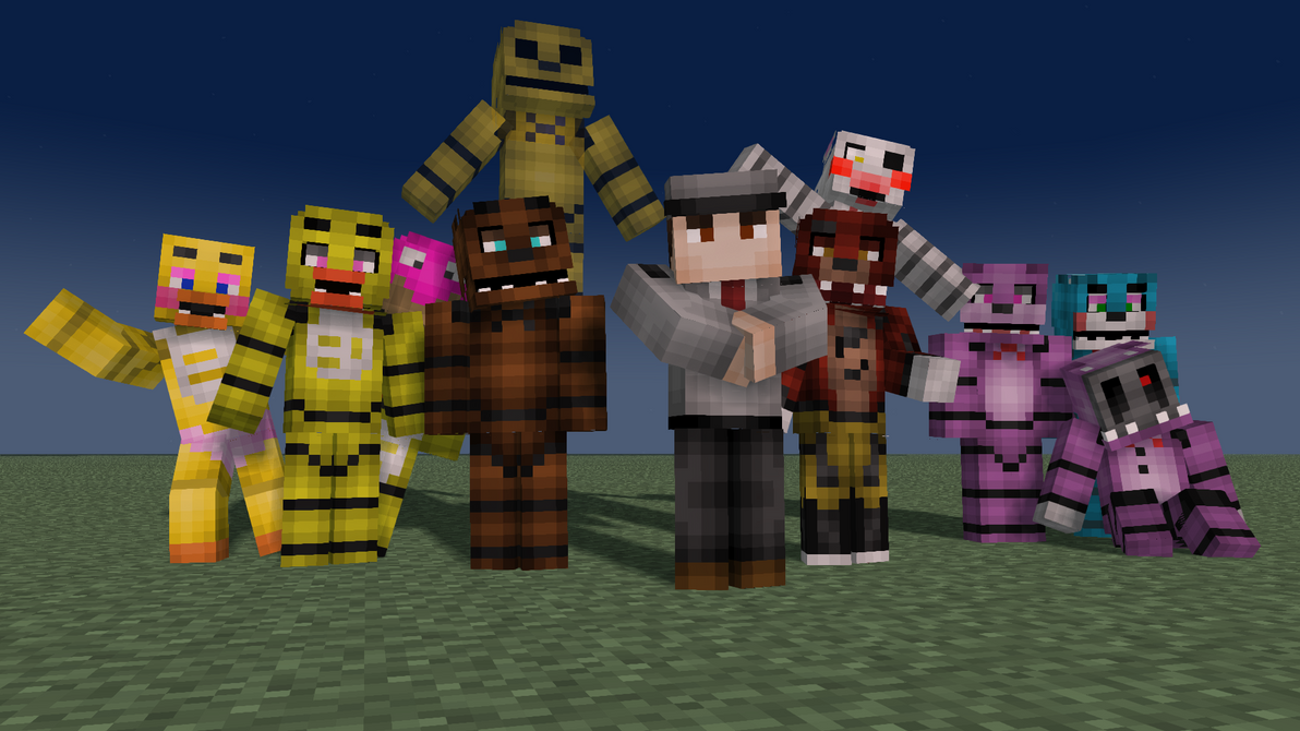 Best Five Nights At Freddys Skin For Minecraft Image Collection - Skins para minecraft pe five nights at freddys