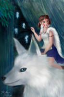Princess Mononoke by PaintedFairytale