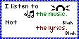 Music, Not Lyrics by J-DJ-Iangto