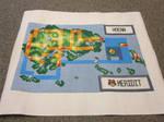 Pokemon map cross-stitch