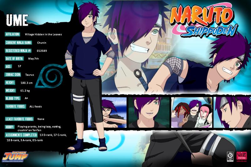 Naruto Profiles UME By AiishiteruxSasaki