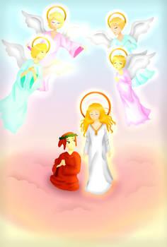 Literature- Dante Alighieri and Beatrice in Heaven