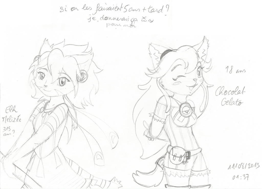 Elh and Chocolat 5 years later by RougeBatGirl86
