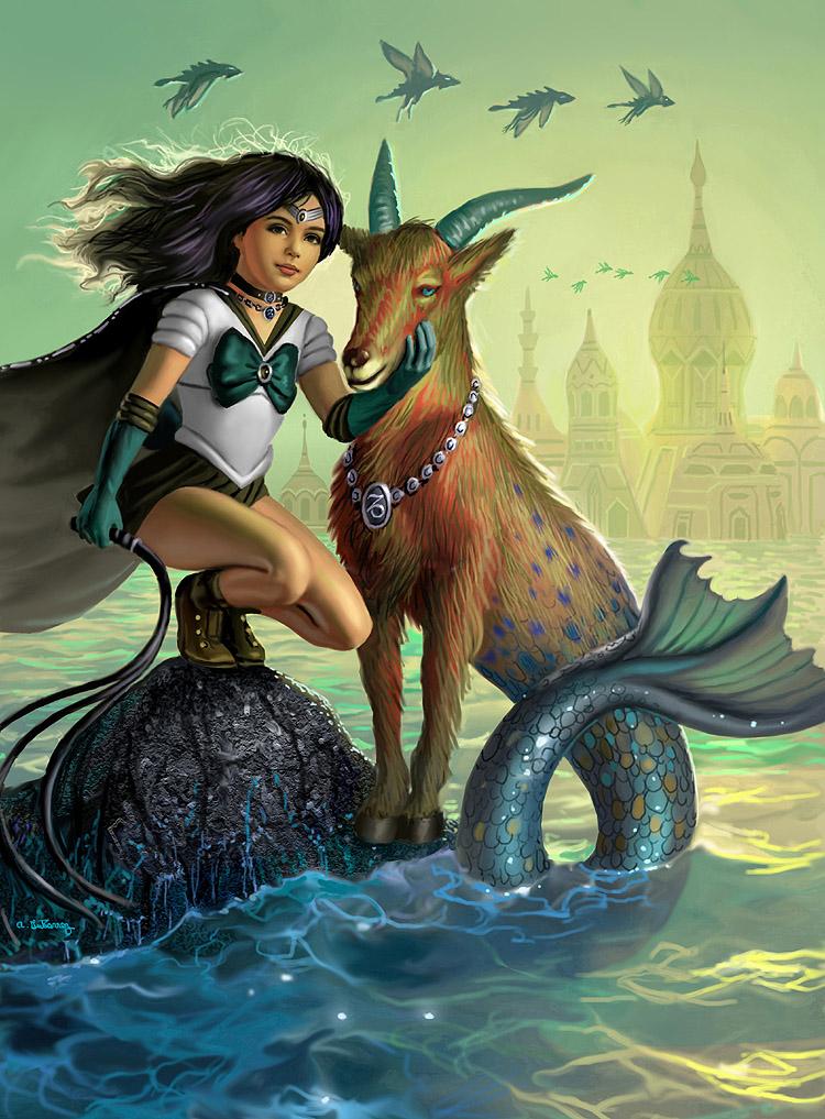 Sailor Capricorn by AlanGutierrezArt