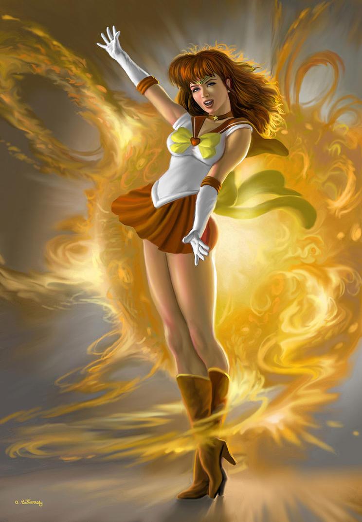 Sailor Sun Transformation by AlanGutierrezArt