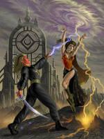 Lilith Vs. Derek by AlanGutierrezArt