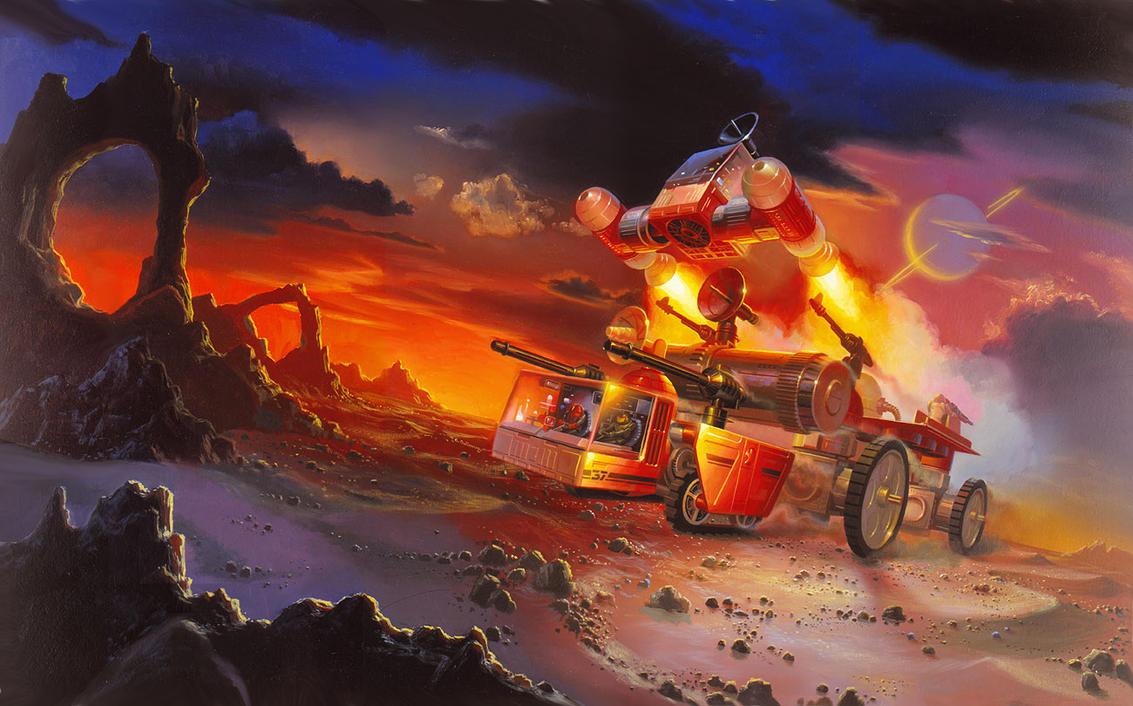 Legions of Power Motorized Land Enemy by AlanGutierrezArt
