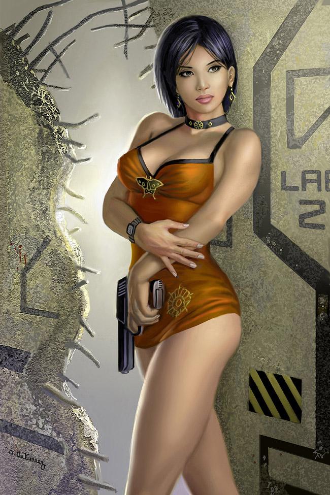 Resident Evil Ada Wong by AlanGutierrezArt