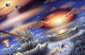 Warworld Codominium: Battle of Sauron by AlanGutierrezArt