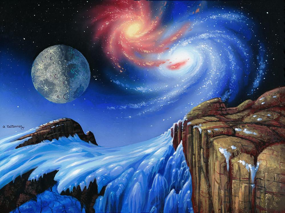 Twin Galaxies by AlanGutierrezArt