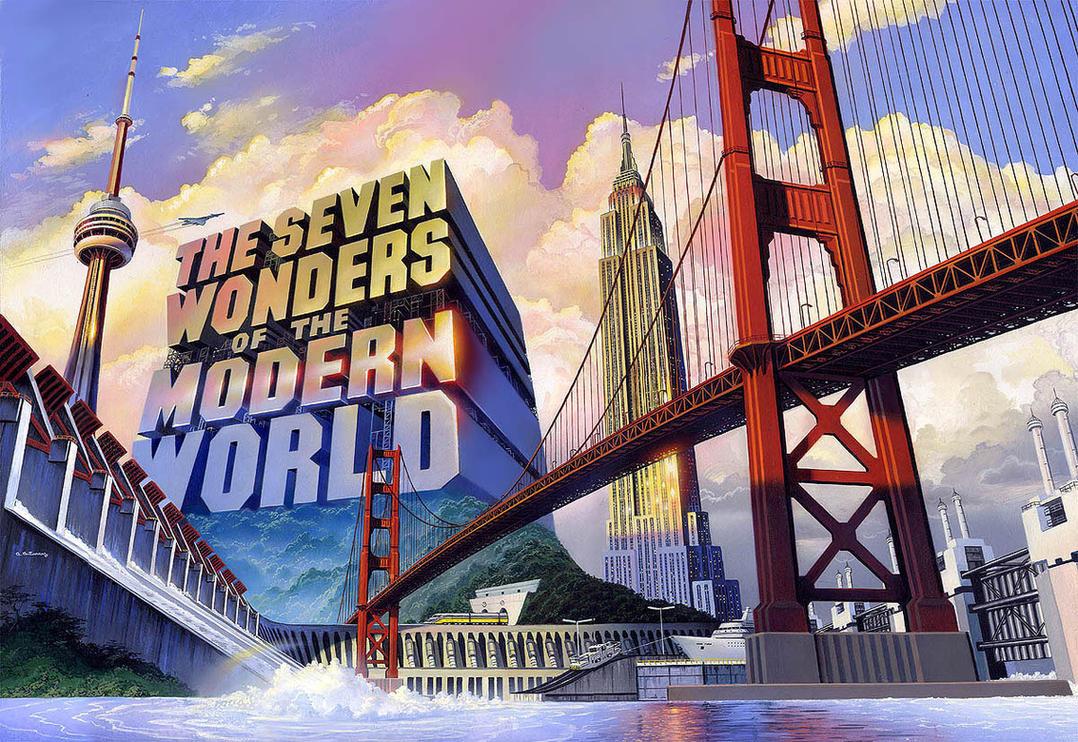 seven wonders of the modern world by alangutierrezart on deviantart