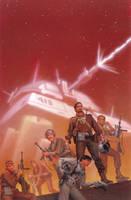 Cross the Stars by AlanGutierrezArt