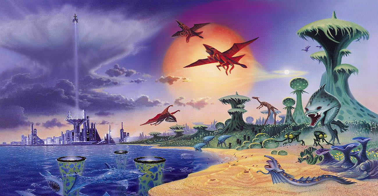 Alien World by AlanGutierrezArt