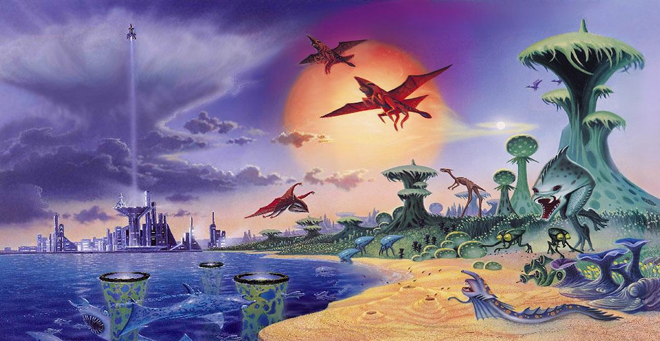 Alien World by AlanGutierrezArt