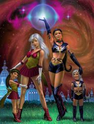 Sailor Starmaker,  Sailor Spirit Families by AlanGutierrezArt