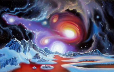 Chaos in the Cosmos by AlanGutierrezArt