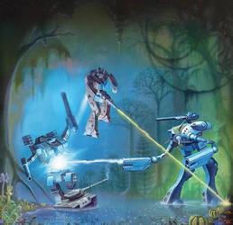 Battledroid Swamp Battle