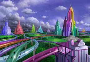 Rainbow Run by AlanGutierrezArt