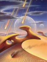 Meteor Shower by AlanGutierrezArt