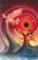 Posideon vs. Helios by AlanGutierrezArt